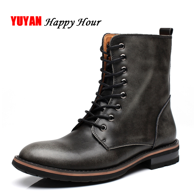 New 2019 Autumn Winter Shoes Men Winter Boots Genuine Leather Warm Footwear Fashion Men s Boots