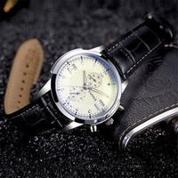 YAZOLE Business Quartz Watch Mens Watches Stainless Steel Diver Males Geneva Quartz Clock Relogio Masculino YD384