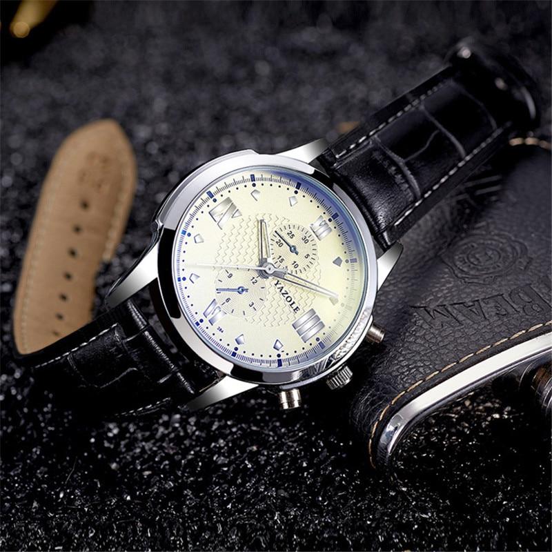 YAZOLE ceas de afaceri din cuarț ceasuri de mână din oțel - Ceasuri bărbați