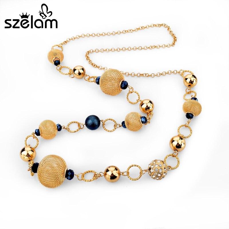 bbb8a966ea56 Szelam Colliers 2019 amarillo Africana perlas collar de las mujeres ...