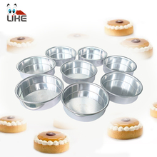 Tart Ring Aluminum remavable bottom fruit tarts pie pan Egg tart ring Lemon Baking tool Cake 3*0.9 inch
