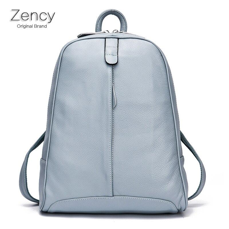 ZENCY Soft Real Natural Cow Leather font b Women b font font b Backpack b font