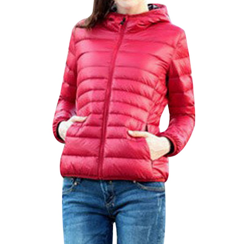 Hooded Outwear Coat 2019 New Autumn Winter Women Warm Solid Color Cotton Jacket Parkas Slim Fit Zipper Outerwears