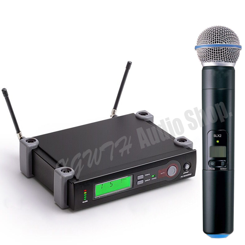 SLX24 BETA58A SM58 SM 58 UHF Wireless Microphone System Single Recording Studio Dynamic Handheld Mics Karaoke Home Mic Mics