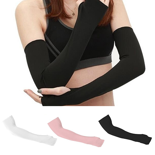 Women UV Sun Protection Driving Cycling Bike Sports Cotton Arm Sleeves