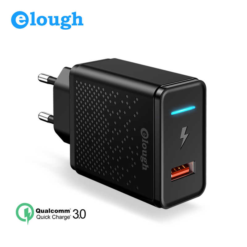 premium selection 883ca 879e3 Elough usb charger for iphone X 8 plus quick charge 3.0 for xiaomi samsung  EU enchufe mobile phone cargador fast charger adapter