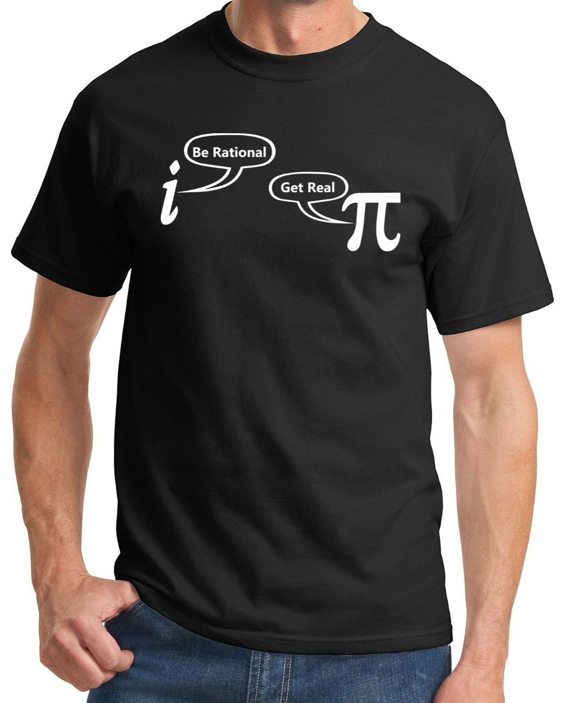 Be Rational Get Real Funny T Shirt Math Geek Nerd Humor Tee Holiday Gift Shirt High Quality top tee Summer O-Neck Tops