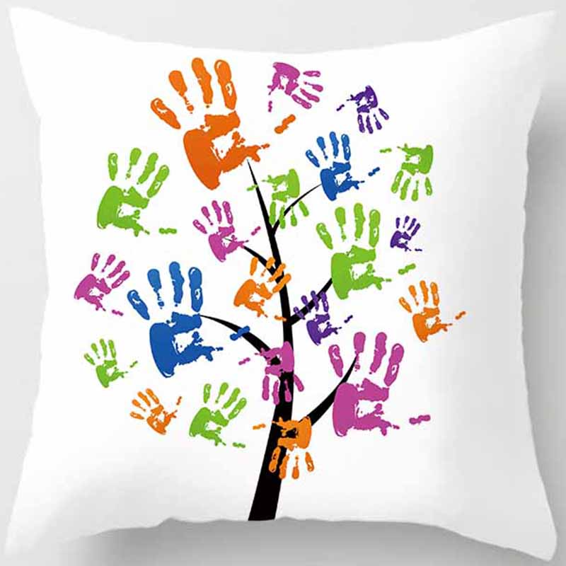 Unicorn beauty zebra trees pattern pillow case water color trees square pillow cases throw pillow cover 45 45cm in Pillow Case from Home Garden