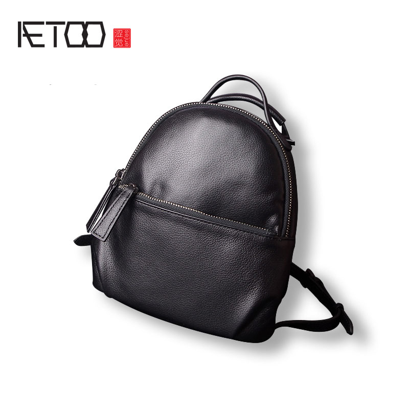 AETOO Leather shoulder bag shoulder bag dual-use female packagenew simple leather mini multi-functional small backpack ohs meng ts022 1 35 155mm self propelled howitzer chinese plz05 scale military afv assembly model building kits oh