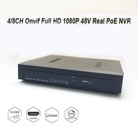 8CH Onvif Full HD 1080P 48V Real PoE NVR All In One Network Video Recorder For