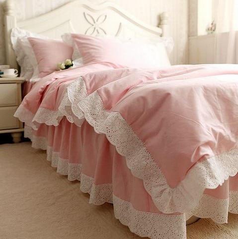 Ensemble de literie à volants en dentelle blanche de luxe, une fille - Textiles de maison - Photo 4