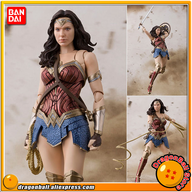 Anime Justice League Original BANDAI Tamashii Nations S.H. Figuarts / SHF Action Figure - Wonder Woman (JUSTICE LEAGUE)