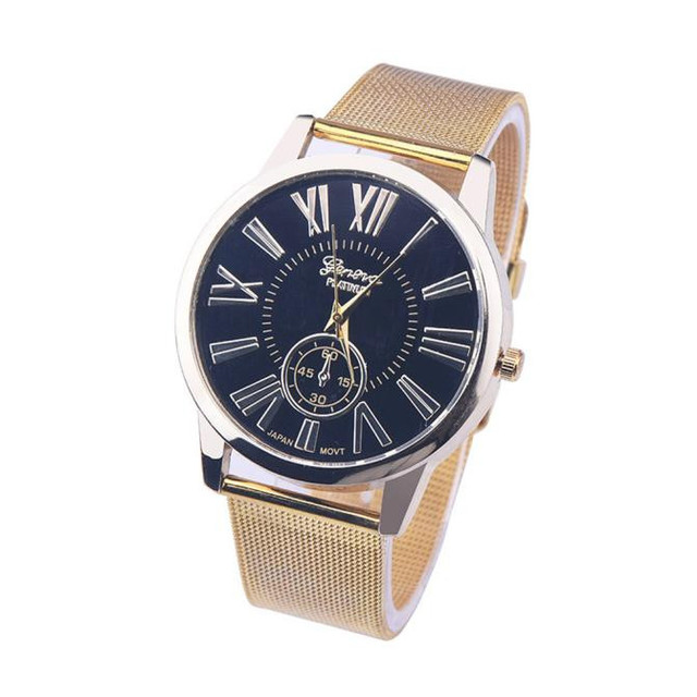 Us 0 93 15 Off Aliexpress Com Buy Gold Mens Watches Top Brand Luxury Stainless Steel Watch Discount Rome Digital Classic Gold Quartz Wristwatch