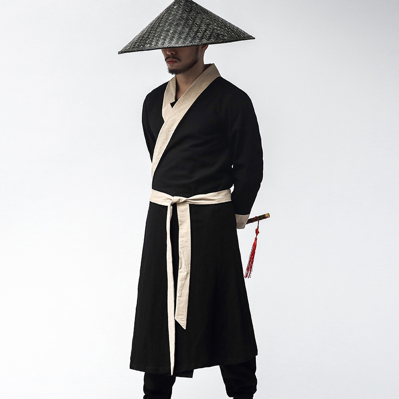 Chinese traditional hanfu costume men swordsman hanfu costume for stage performance ancient tang robe clothes male