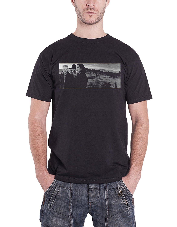 Gildan U2 T Shirt The Joshua Tree Songs Album Cover Band Logo Official Mens Black