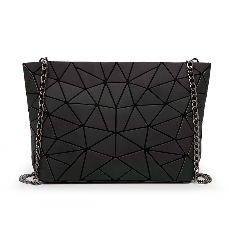 New Baobao Luminous Reflective Material Designer Bag Women Geometry Laser Handbags High Quality Luxury Brand Folding Bags In Shoulder From Luggage