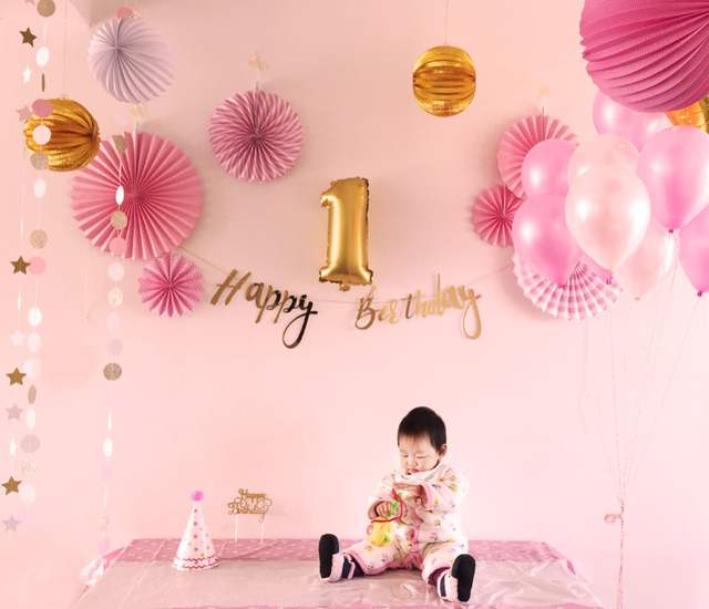 Online Shop Happy Birthday Party Decoration for Girls Pink Theme