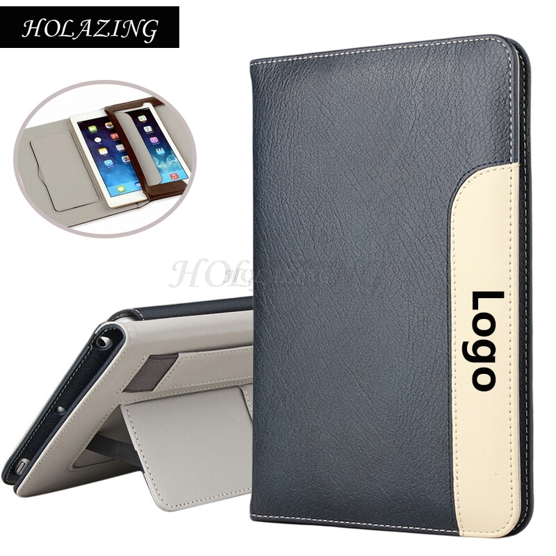 HOLAZING Luxury Premium PU Leather Holder Stand Cover   for iPad Air 9.7 with Card Slot Hand Strap Smart Sleep Wake up Case
