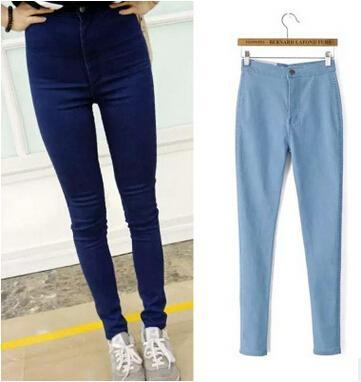 Slim Jeans For Women Elastic Stretch Jeans With High Waist Skinny Jeans Woman Push Up Women Jeans Femme Pants Trousers