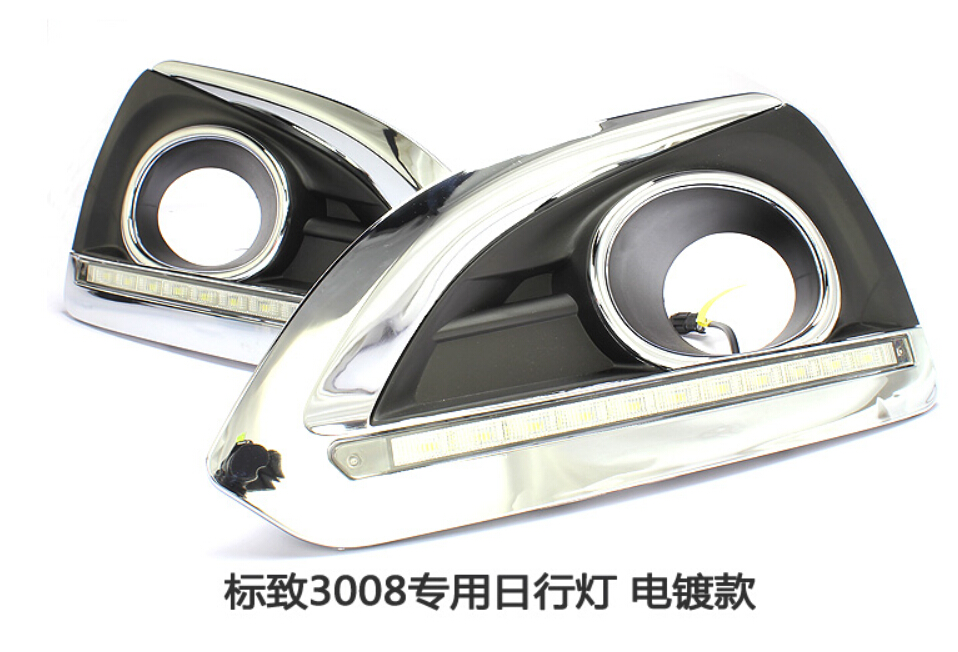 Peugeo 3008 daytime light;2009~2012, Free ship!LED,Peugeo 3008 fog light,2ps/set;Peugeo 3008