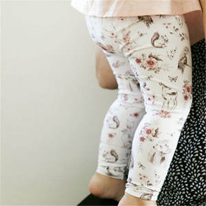 Pants Newborn Trousers Leggings Bottoms Baby-Girls Kids Cartoon Print Flower New-Fashion