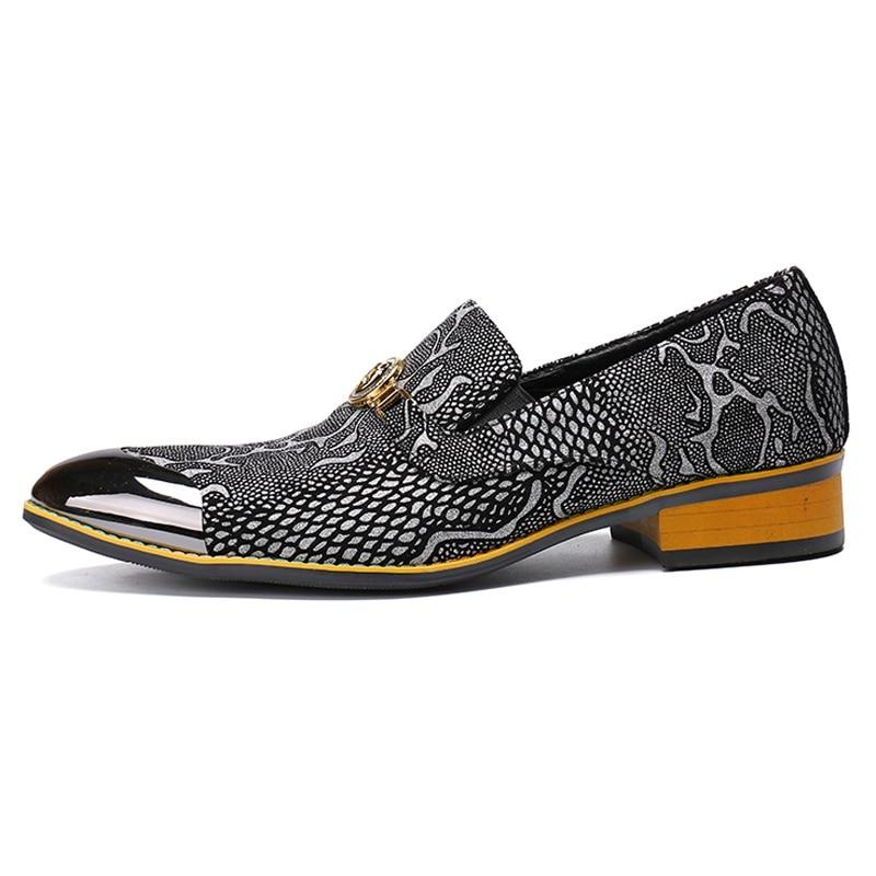 Sapatos Partido Mocassins Dança Vestido Homens Python Formal Couro Plus Dos Banquete Sl347 Homem Genuíno Toe Cinza Apontou Casamento Size Padrão De Do xqwTfOaHw