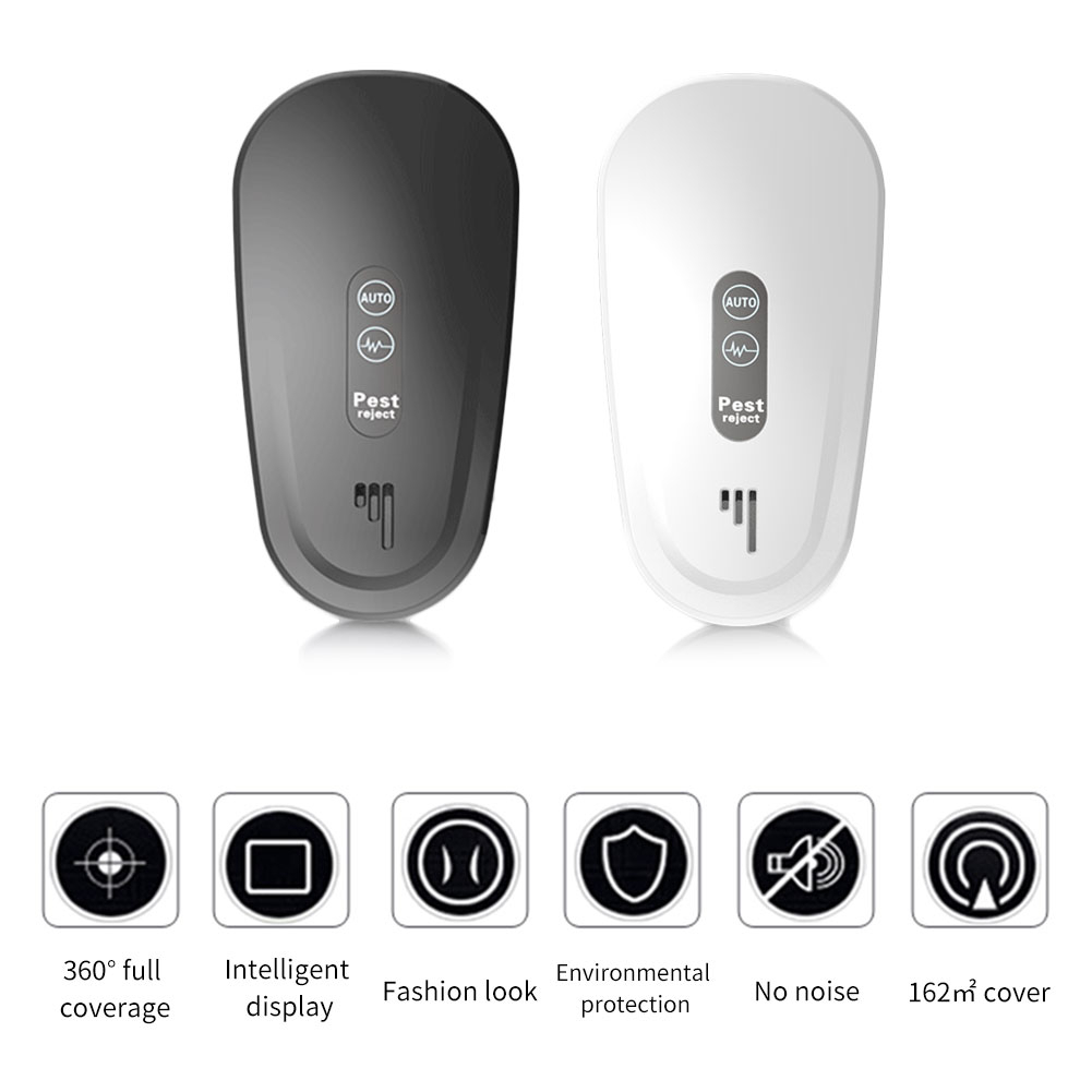Ultrasound Anti Mosquito Trap Mouse Cockroach Repeller Device Insect Spider Killer Pest Control Household Drive Away Rejecter