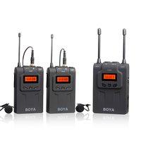BOYA BY WM6 48 канал частоты UHF Беспроводные ПЕТЛИЧНЫЕ микрофонная система 100 м Диапазон интервью видео Запись микрофон для DSLR камер