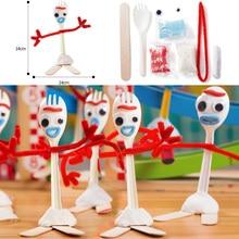 Игрушка Moive 4 Белый форки малыш Рождество День благодарения ремесло ручной работы искусство DIY форки Фигурки игрушки детские развивающие игрушки Brinquedo