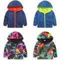 Rapazes encapuzados Jaquetas Esporte Camo Casacos Para Bebés Outerwears 1-8A SC142 Fluorescente Outdoor Windbreak Jaquetas de Outono das Crianças