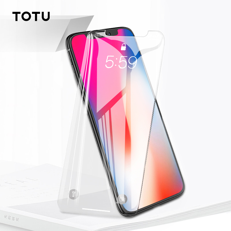 TOTU 10D Screen Protector For iPhone X 8 7 Plus Front Cover Tempered Glass For iPhone 8plus 7plus Screen Protection Protective in Phone Screen Protectors from Cellphones Telecommunications