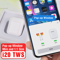 i20 TWS Pop up Wireless Bluetooth 5.0 Earphones 4D Super Bass Sound Touch Control PK W1 Chip PK LK TE9 i10 i12 i30 i60 i80 tws