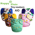 NEW PRINT! Happy Flute 1 pcs tiny Newborn  AIO baby diaper with bully button cloth diaper