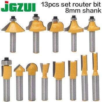 цена на 1pcs 8mm Shank wood router bit Straight end mill trimmer cleaning flush trim corner round cove box bits tools Milling Cutter