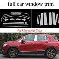 Декоративные полосы с полным окном для C-hevrolet T-rax  автомобильные аксессуары из нержавеющей стали с центральным столбом