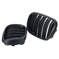 1 Pair Racing Grille For BMW E39 5 Series Gloss Black 1999 2003 Car Styling Grill M5 Style Kidney Double Slat Grille