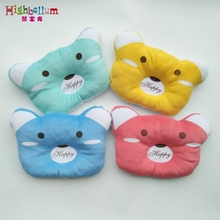Infant Newborn Baby Pillow Sleep Positioner Prevent Flat Head Shape Support High Quality 100% Cotton Soft Lovely Bear Bed Toy