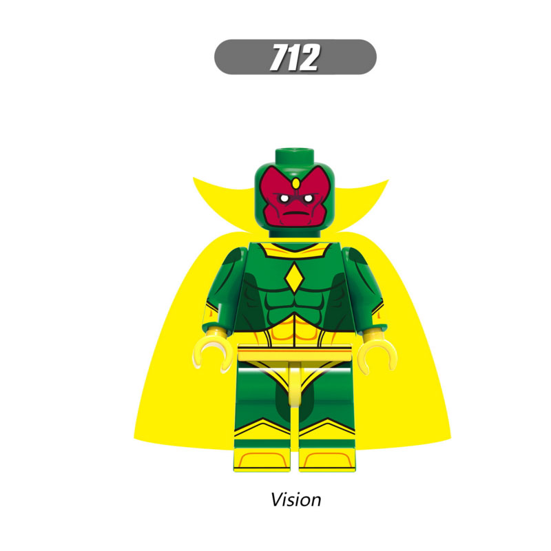 Model Building Toys & Hobbies Responsible Single Sale Super Heroes Star Wars 712 Vision Model Mini Building Blocks Figure Bricks Toys Kids Gifts Compatible Legoed Ninjaed Soft And Light