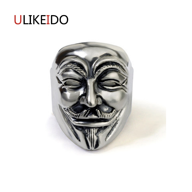 100% Pure 925 Sterling Silver Jewelry Masks Rings Wide Version Men Signet Ring For Women Special Christmas Gift 1119