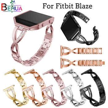 High Quality Stainless Steel strap For Fitbit Blaze smart watch Replace strap Bracelet wristband band strap With frame optional crested for fitbit blaze frame replacement stainless steel case activity tracker smart watch accessories