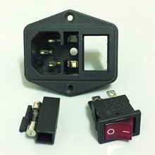 Arcade Computer Cabinet Switched Power Socket Cnnector AC 250V Lighting with Fuse Holder for Jamma and Mame DIY Game Machine цена в Москве и Питере
