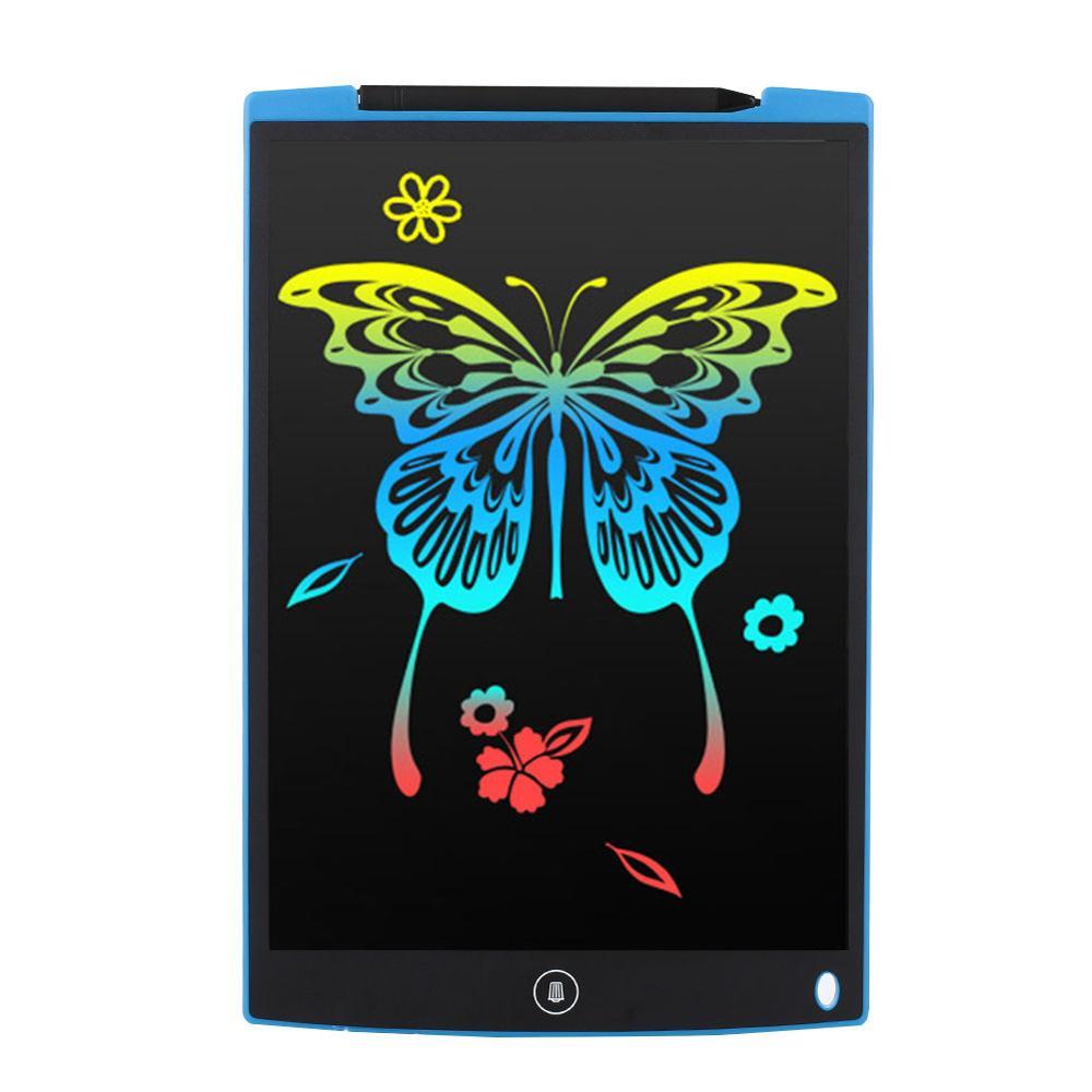 ЖК-планшет для письма 12 дюймов цифровой чертежный электронный блокнот для рукописного ввода доска для записей детская письменная доска подарки для детей - Цвет: Right angle blue