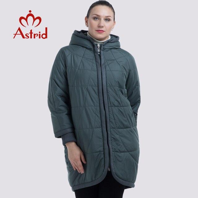 8d6b9e81777 NEW 2019 Аstrid куртка женская в зиму женское пальто с капюшоном на молнии  плюс размеры леди