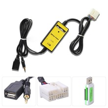 New CD Interface Adapter Changer USB Cable + Reader For Honda Accord AUX Input MP3 DXY88