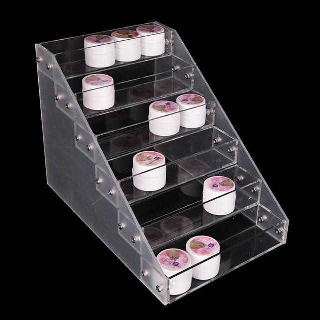 Clear Fashion 6 Tiers Cosmetic Makeup Nail Polish Varnish Display ...