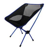 Nueva silla de playa plegable al aire libre portátil de aleación de aluminio Silla de pesca envío gratis