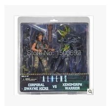NECA Aliens Caporale Dwayne Hicks VS Xenomorph Warrior Action Figure S