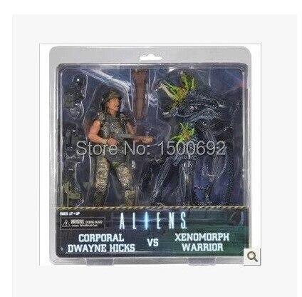 """דמות פעולת NECA החייזרים Xenomorph לוחם רב""""ט דוויין היקס VS S"""