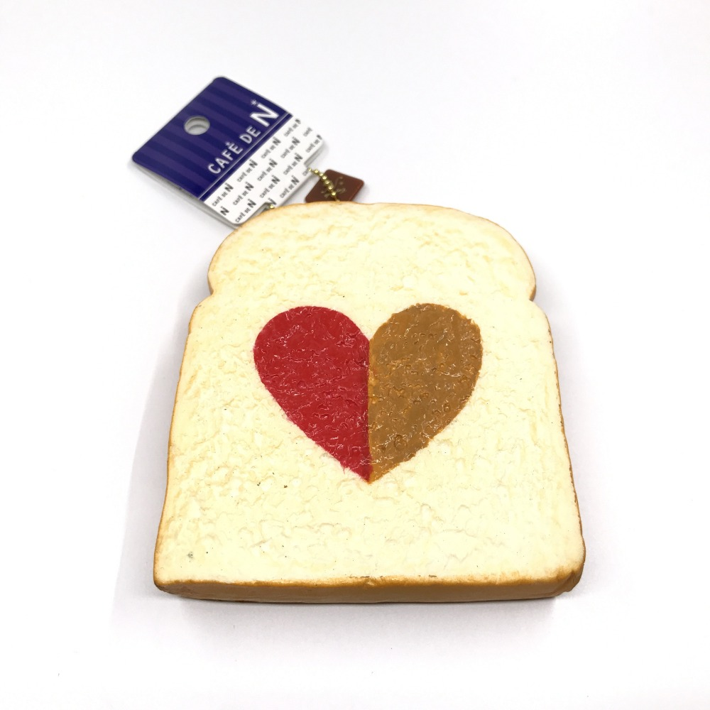 Original Cafe De N Toast Squishy Soft And Slow Rising Squishy Toys Squishy Cake Bread Key Chain Kids Toys Collection Souvenir