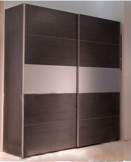 Bedroom furniture laminated mdf wardrobe sliding door